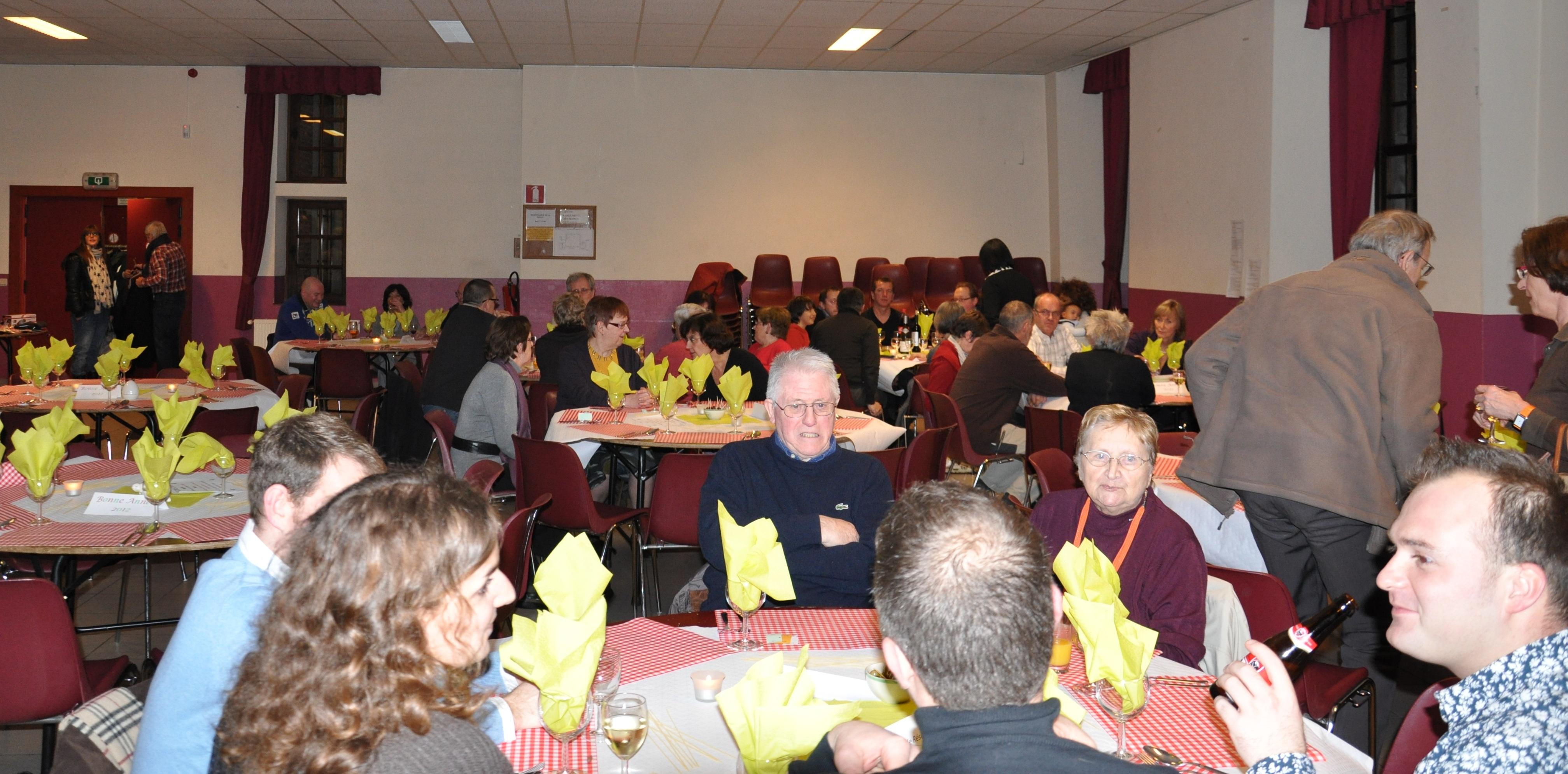 Janvier 2012: souper spaghettis au château Brunsode