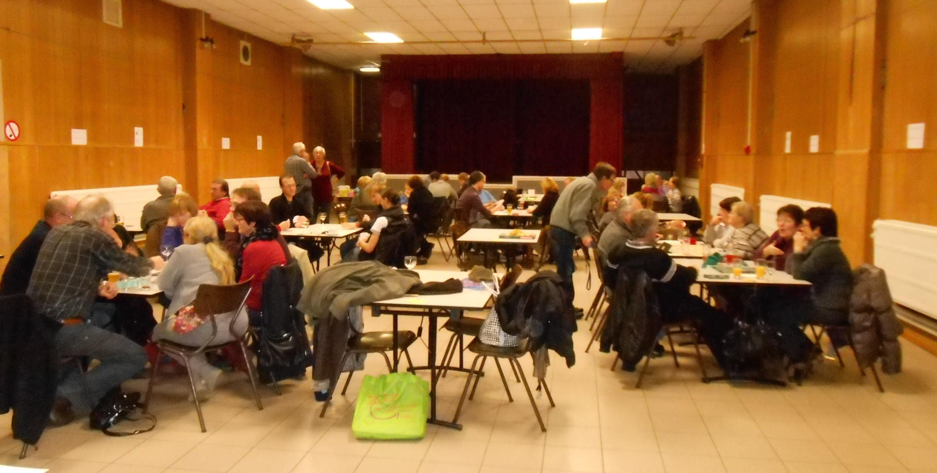 Soirée jeux en novembre 2012 à la salle communale de l'Amirauté